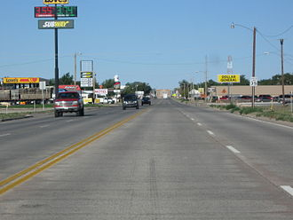 Boise City, Oklahoma - Image: Route Three In Boise City Oklahoma September 2011