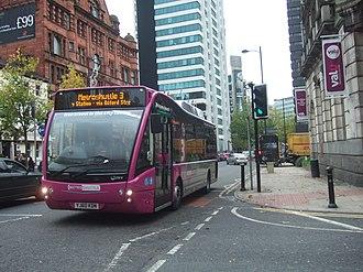 Transport for Greater Manchester - Image: Route Metroshuttle 3