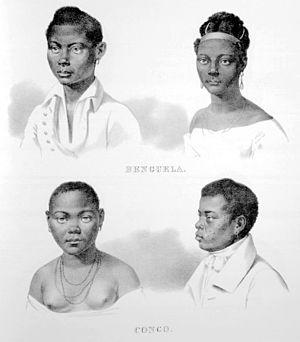 Afro-Brazilian history - Image: Rugendas Escravos de Benguela e Congo
