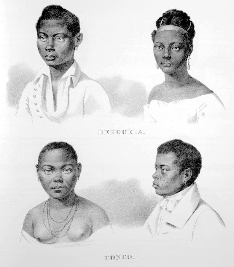 Rugendas - Escravos de Benguela e Congo