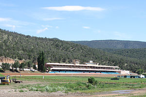 Ruidoso Downs, New Mexico - Ruidoso Downs Race Track and Casino, where the All American Futurity is held annually.