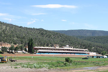 Ruidoso Downs Race Track and Casino, where the All American Futurity is held annually. Ruidoso Downs New Mexico Racetrack and Casino.jpg