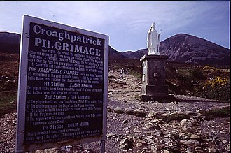 Croagh Patrick - Image: Rules of the Reek geograph.org.uk 718448