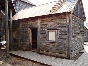 Robert Terrill Rundle - Exterior of Fort Edmonton Park's reconstruction of Rundle's chapel, c. 1846.