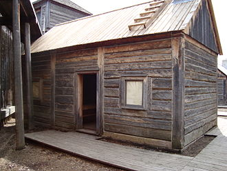 Robert Terrill Rundle - Exterior of Fort Edmonton Park's reconstruction of Rundle's chapel, c. 1846