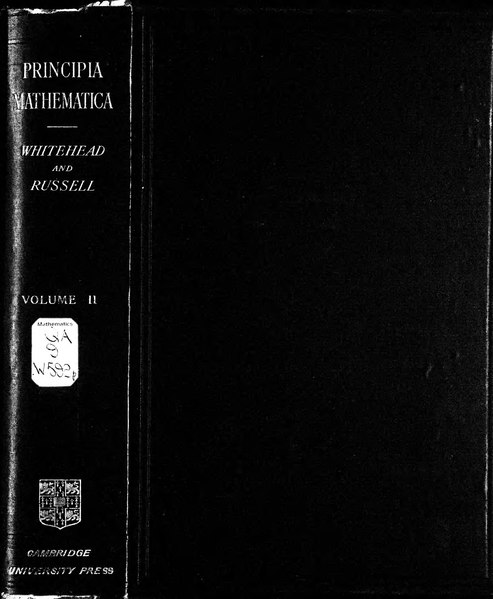 File:Russell, Whitehead - Principia Mathematica, vol. II, 1912.djvu