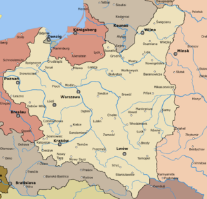 Capital Of Poland Map.Second Polish Republic Wikipedia