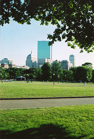 English: Boston Commons in 2005
