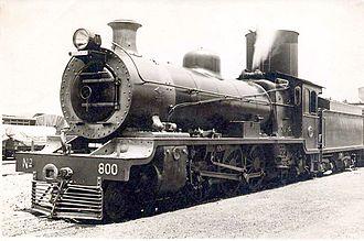 South African Class 16 4-6-2 - Class 16 no. 800, Braamfontein, c. 1930