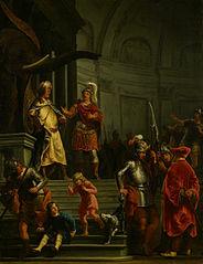 De onverschrokkenheid van Fabricius in het legerkamp van Pyrrhus