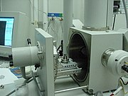 SEM opened sample chamber