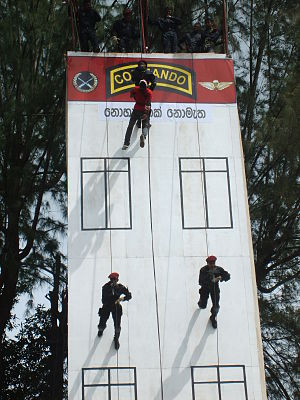 Sri Lanka Army Commando Regiment - Enactment of a hostage rescue scenario by Commandos.
