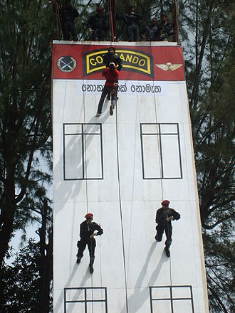 Sri Lanka Army Commando Regiment - Enactment of a hostage rescue scenario by Commandos.