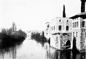 Orontes River - Orontes River in Hama, Syria, 1914