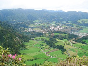 Povoação, Azores - The geological active region of the Furnas valley and the civil parish of the same name