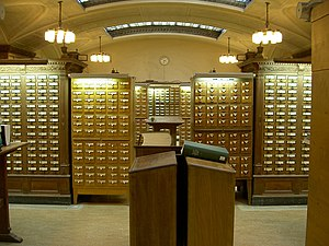 Library catalog - Another view of the SML card catalog