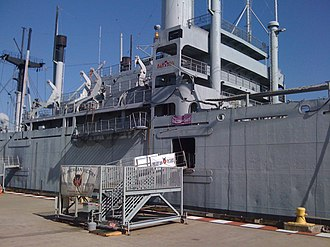 SS American Victory - Docked to starboard