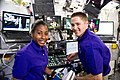 STS-131 Stephanie Wilson and James Dutton at robotic workstation.jpg