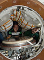 STS-133 ISS-26 Steve Lindsey and Alexander Kaleri in a Soyuz spacecraft.jpg