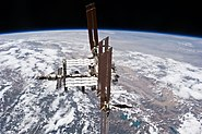 STS-135 final flyaround of ISS 4