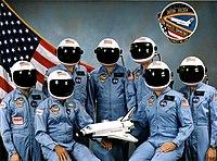 STS-61C gag crew photo
