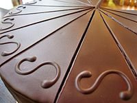 Sacher Torte sliced, closeup, February 2010.jpg