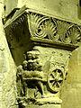Saint-Denis (93), basilique, crypte, collatéral nord, chapiteau roman 1.jpg