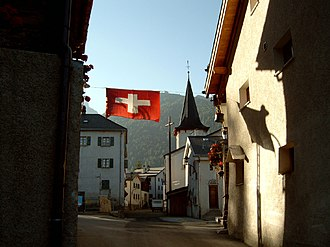 Saint-Luc, Switzerland - General view of Saint-Luc