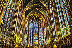 Sainte-Chapelle - Stained Glass Interior