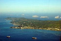 Saipan seen from the air