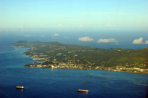 Aerial view of Saipan, Northern Mariana Islands
