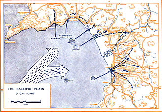Allied invasion of Italy - Salerno D-Day plan.