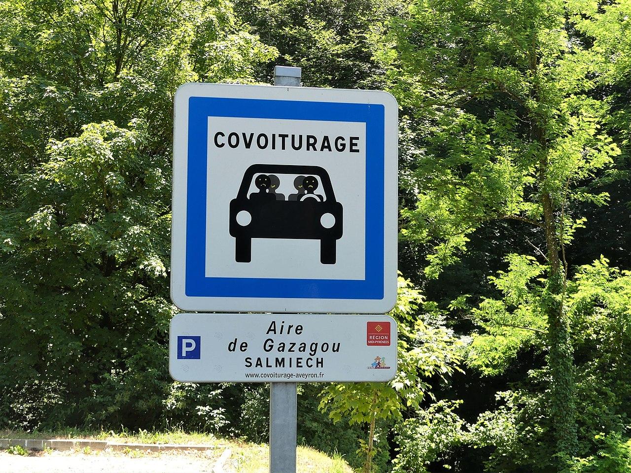 Panneau - Covoiturage - Voiture - France - Véhicule - SchoolMouv - Géographie - CM2
