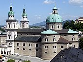 Salzburg Cathedral as seen from Festungsgasse.jpg