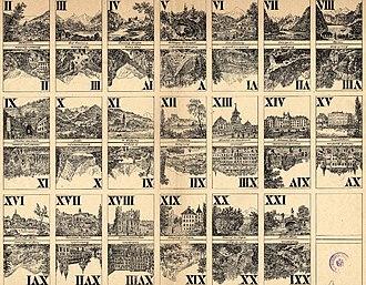 Tarot - Image: Salzburg Spielkarten c 1840