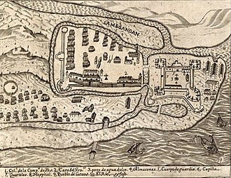 Zamboanga City - Illustration of Zamboanga and Fort Pilar, detail from the Carta Hydrographica y Chorographica de las Yslas Filipinas, 1734