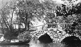 Double-arch Sandstone Bridge - Sands Bridge circa 1900