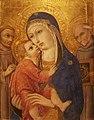 Sano di Pietro, Madonna met Kind en HH Franciscus en Bernardinus, ca 1460 (Bonnefantenmuseum, Maastricht).jpg