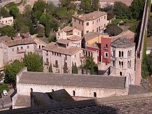 Sant Pere de Galligans des del campanat de la Seu de Girona.jpg