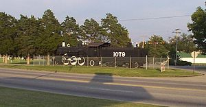Coffeyville, Kansas - Atchison, Topeka and Santa Fe Railroad Locomotive 1079 on static display, 2002