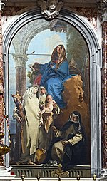 Santa Maria del Rosario (Venice) Tiepolo - The Virgin Appearing to Dominican Saints.jpg