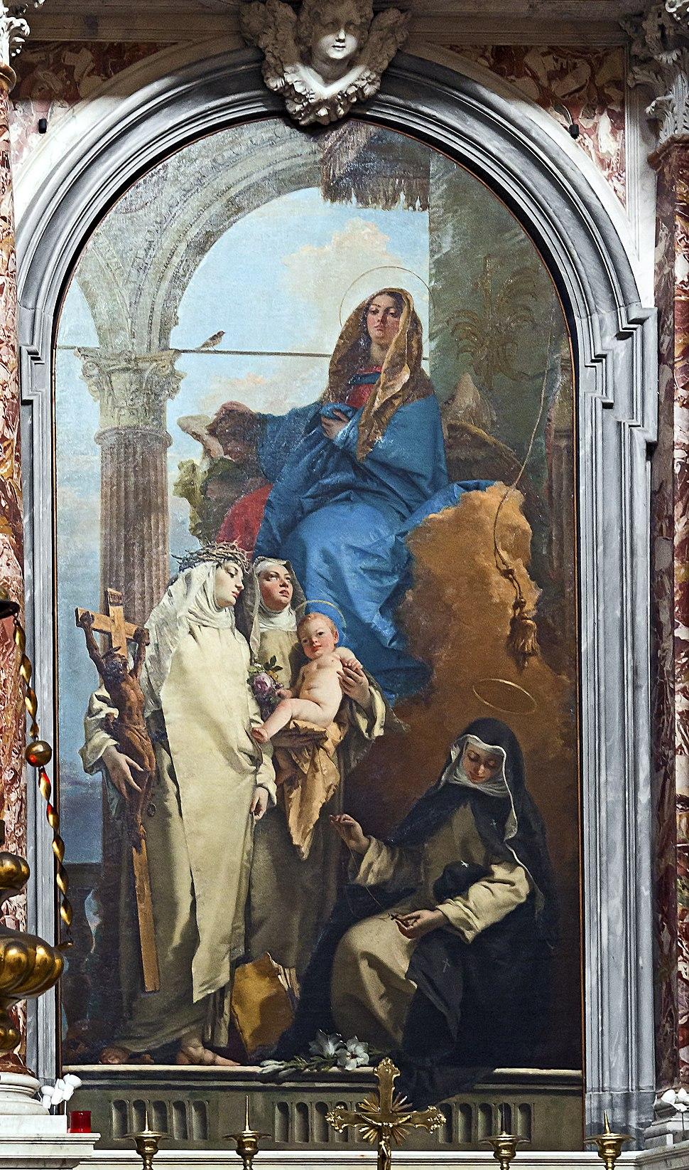 Santa Maria del Rosario (Venice) Tiepolo - The Virgin Appearing to Dominican Saints