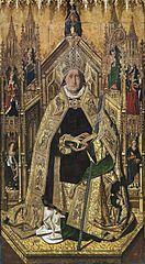 Santo Domingo de Silos entronizado como obispo, de Bartolomé Bermejo (Museo del Prado)