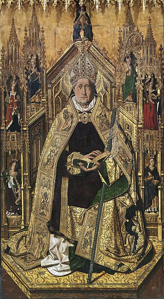 Abbot - St. Dominic of Silos enthroned as abbot (Hispano-Flemish Gothic 15th century)