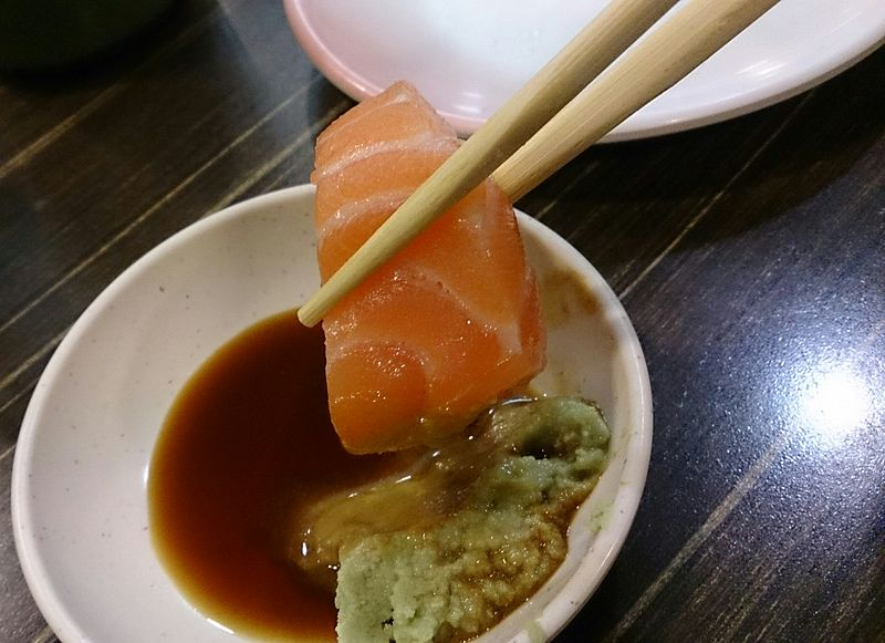 File:Sashimi with Wasabi.jpg