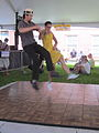 Satchmo SummerFest Anti Gravity Dance.JPG