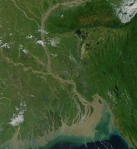Picture of Bangladesh By Jacques Descloitres, MODIS Land Rapid Response Team, NASA/GSFC (Cropped from Visible Earth) [Public domain], via Wikimedia Commons