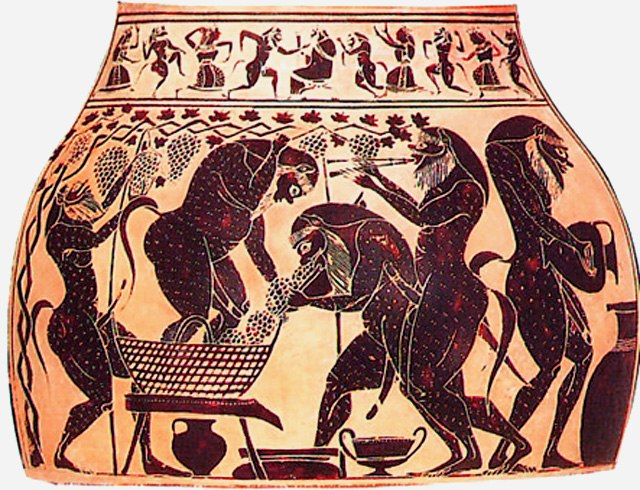 Satyres vendangeurs (Amase en - 540)