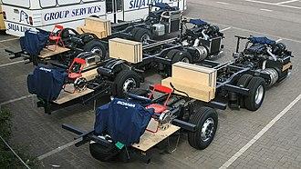 Rolling chassis - Image: Scania K EB4x 2NI K UB4x 2LB K IB4x 2NB Olympia Terminal Helsinki