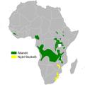 Schoenicola brevirostris distribution map.png